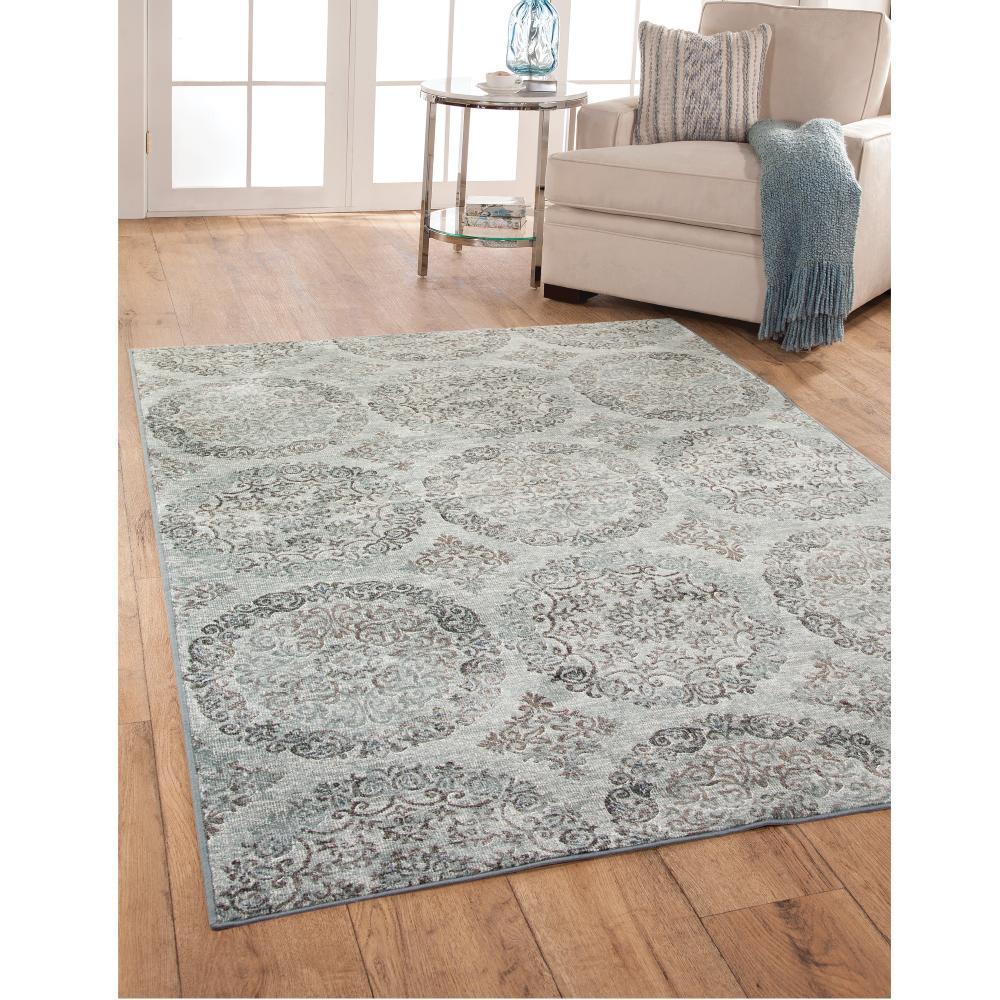 Sams international sonoma ana grey blue 7 ft 10 in x 11 for International decor rugs