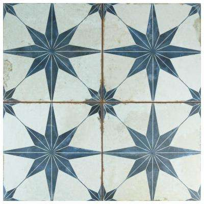 Kings Star Blue 17-5/8 in. x 17-5/8 in. Ceramic Floor and Wall Tile (11.1 sq. ft. / case)