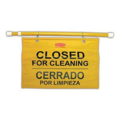 Site Safety Hanging Sign with Multi-Lingual Closed for Cleaning Imprint
