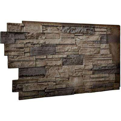 1-1/2 in. x 48 in. x 25 in. Platinum Urethane Dry Stack Stone Wall Panel
