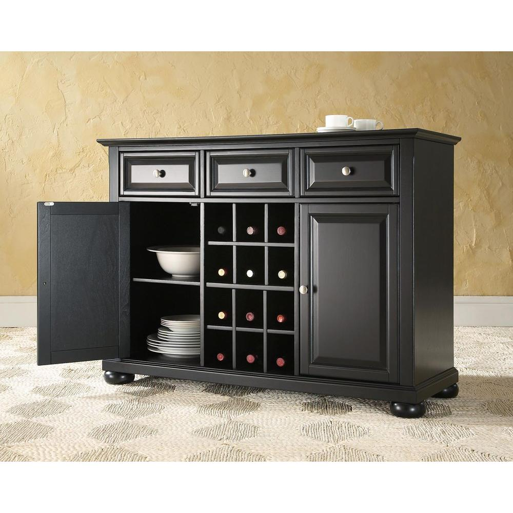 Crosley Alexandria Black Buffet