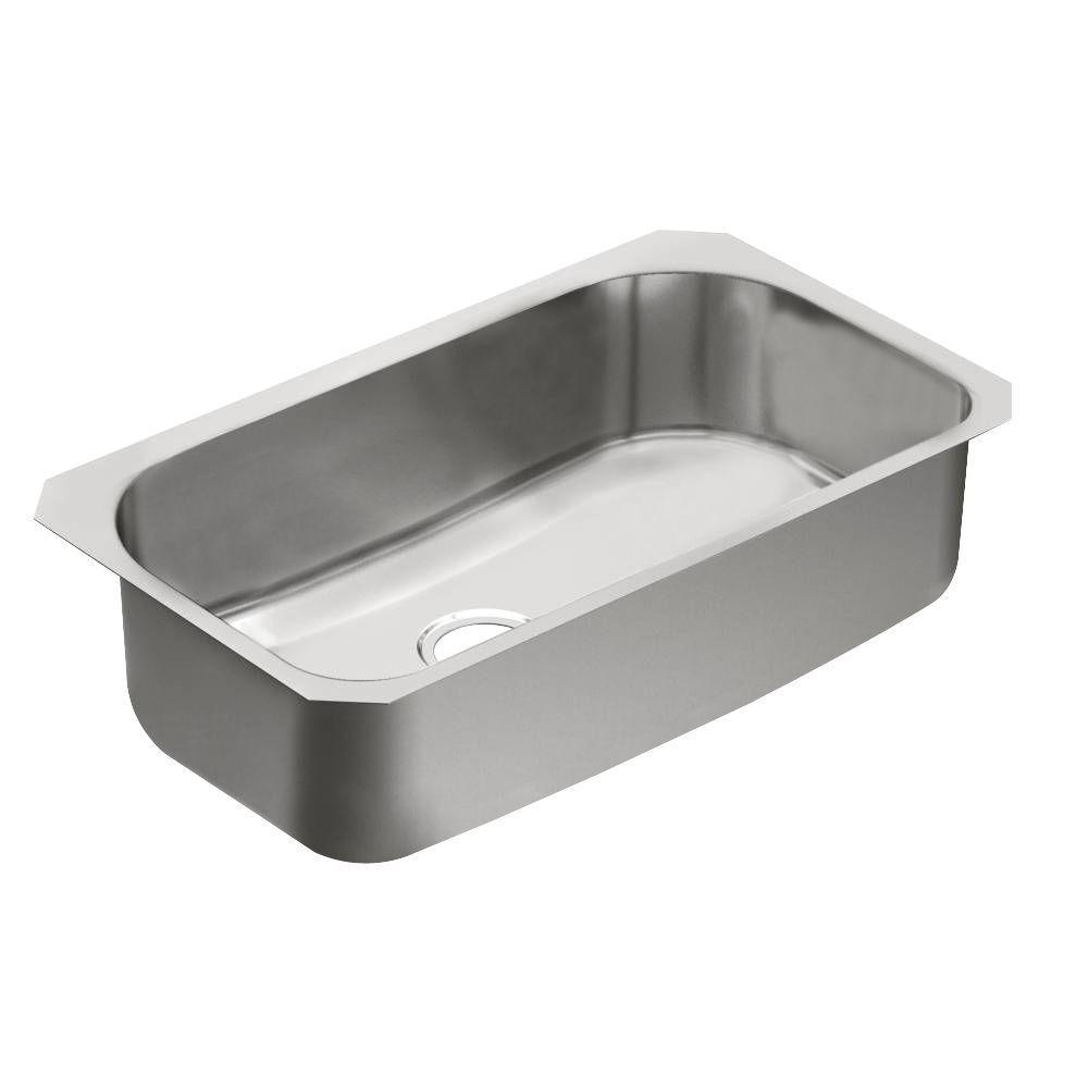 MOEN 1800 Series Undermount Stainless Steel 31 in. Single Basin Kitchen Sink