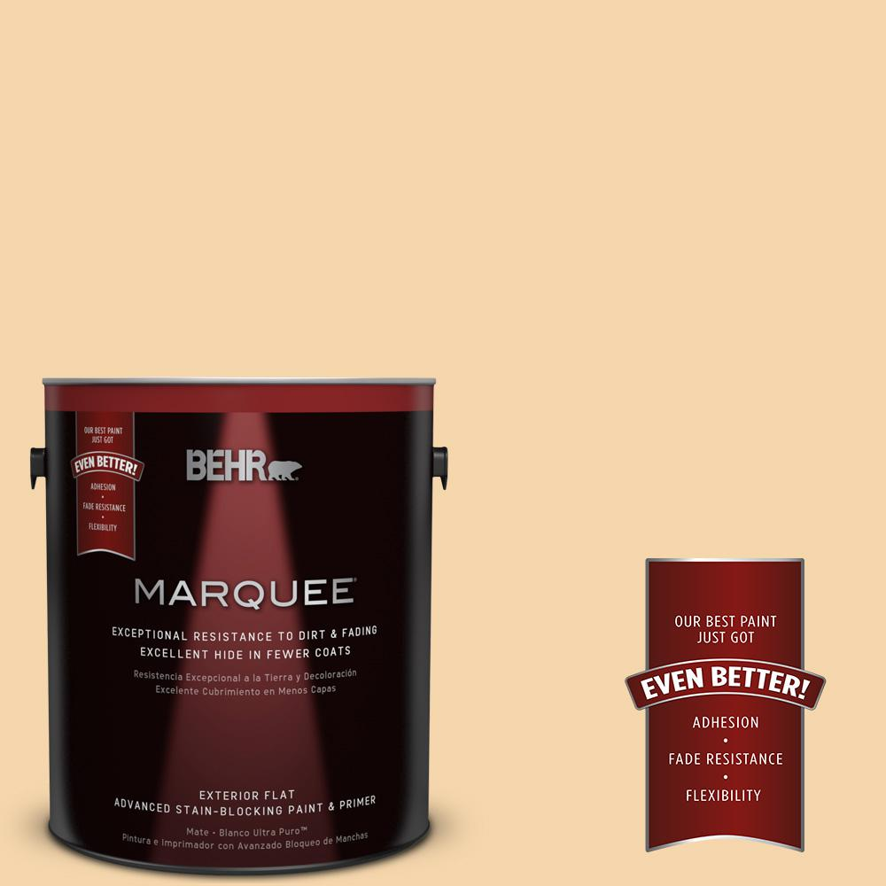 BEHR MARQUEE 1-gal. #PPU6-8 Pale Honey Flat Exterior Paint