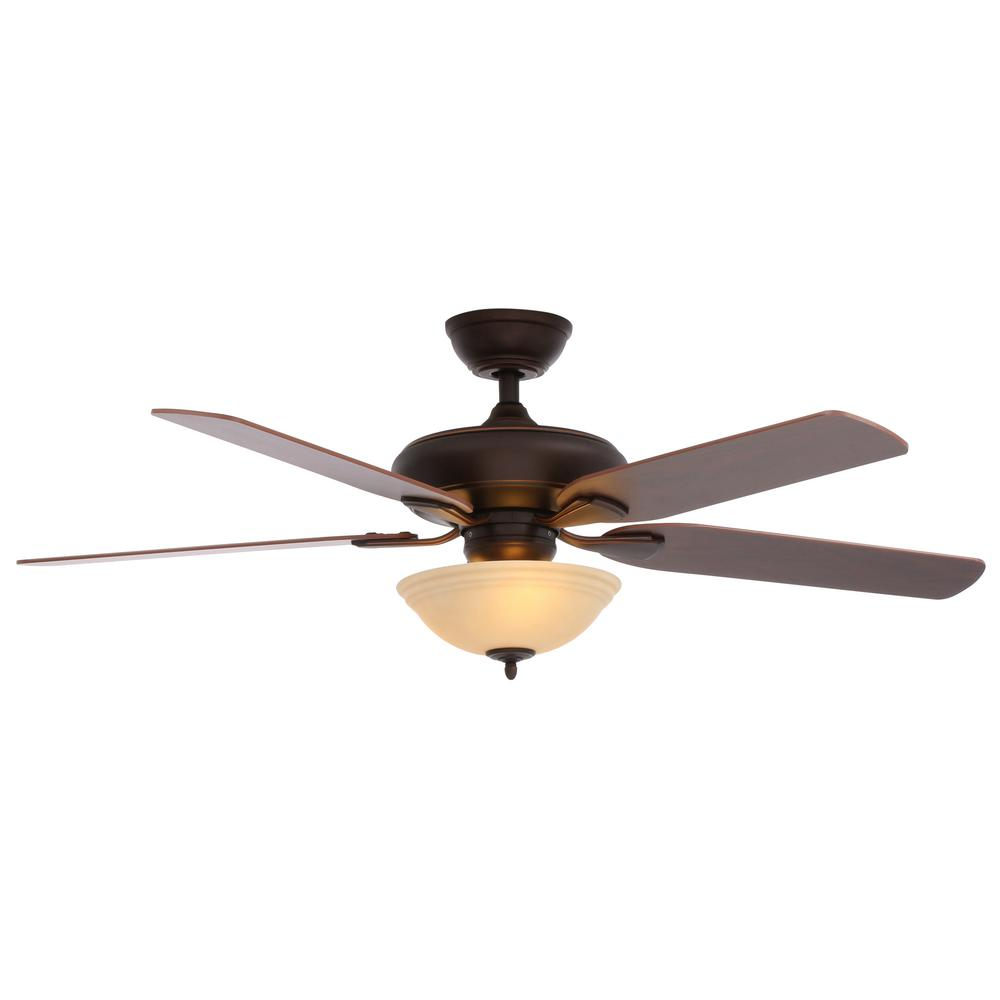 Hampton bay flowe 52 in led indoor mediterranean bronze ceiling hampton bay flowe 52 in led indoor mediterranean bronze ceiling fan with light kit and mozeypictures Choice Image