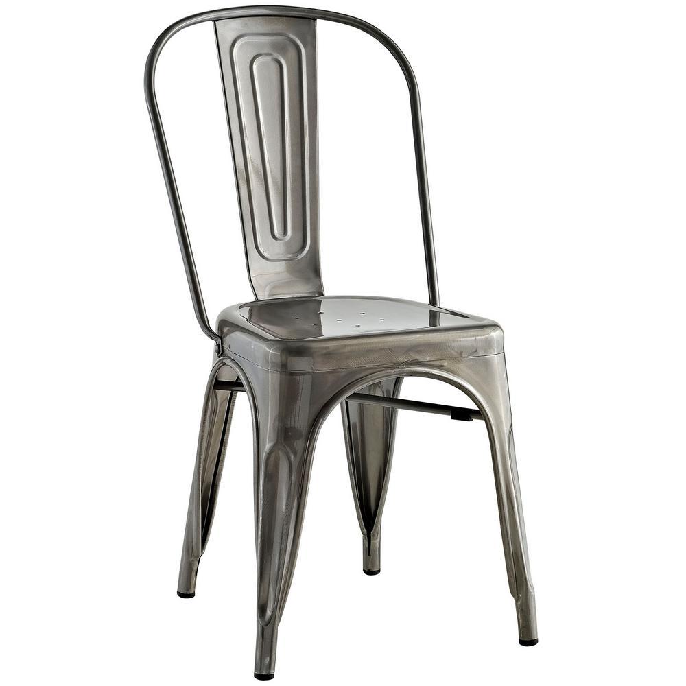 Incroyable Promenade Gunmetal Side Chair