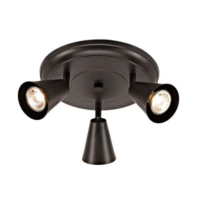 Sian 10 in. 3-Light Transitional Canopy Track Lighting Kit, Oil-Rubbed Bronze