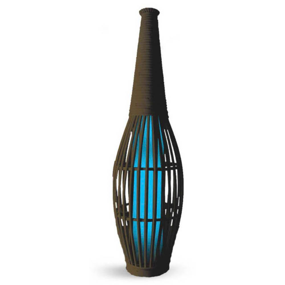 null 30 in. Solar Vase with Blue Light
