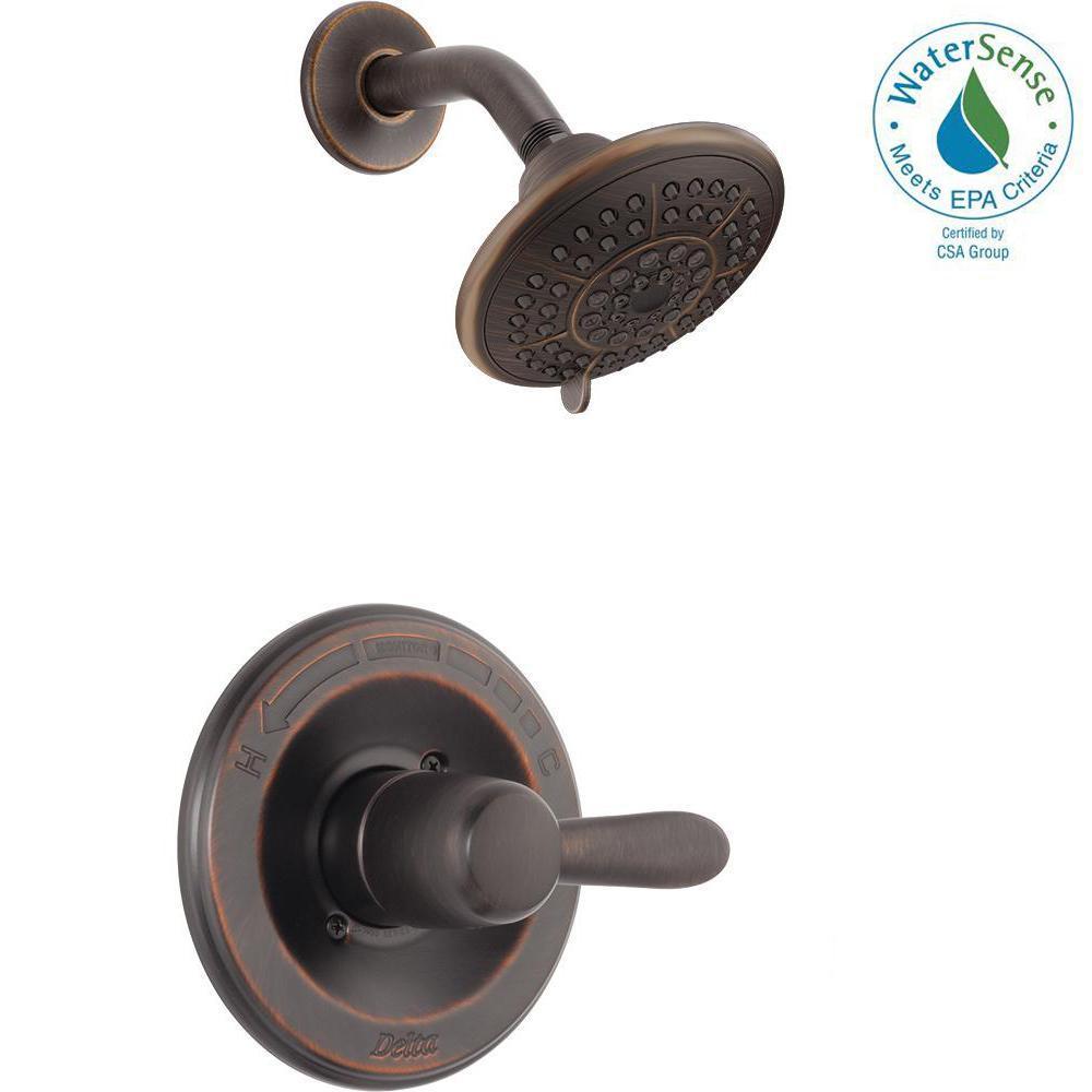 Delta Lahara 1 Handle 1 Spray Shower Faucet Trim Kit In Venetian Bronze (