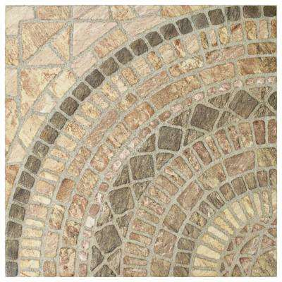 Terra Beige 17-3/4 in. x 17-3/4 in. Ceramic Floor and Wall Tile (21.85 sq. ft. / case)