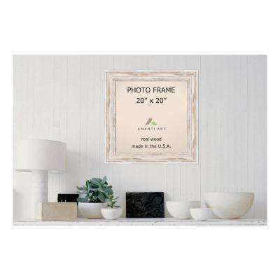Alexandria 20 in. x 20 in. Whitewash Picture Frame
