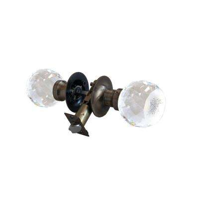 Love Rose Crystal Antique Brass Passive Door Knob with LED Mixing Lighting Touch Activated