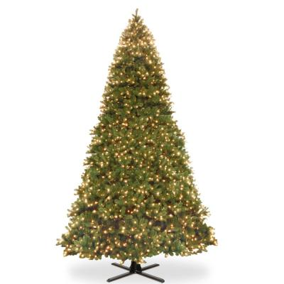 16 ft. Feel Real Downswept Douglas Fir Hinged Artificial Christmas Tree with 2100 Dual Color LED Lights