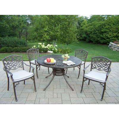 Sunray Patio 5-Piece Dining Set with Fully Welded Chairs and Cushions