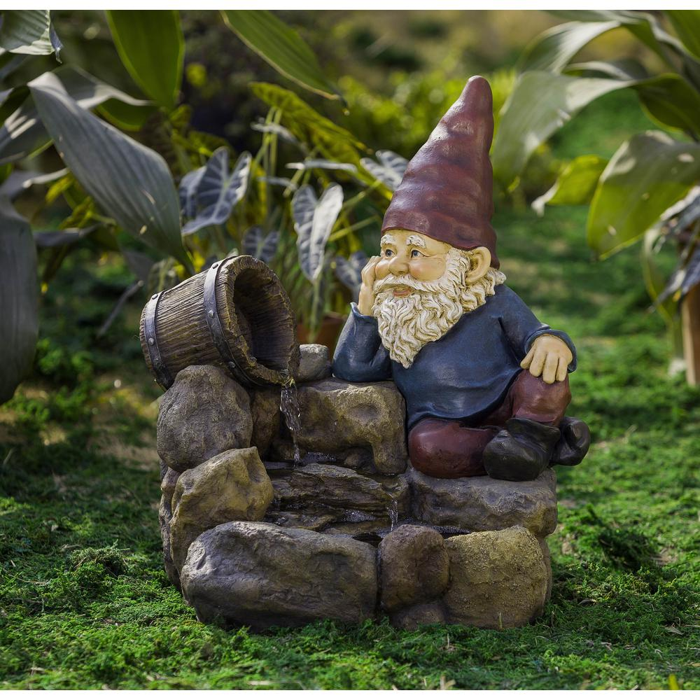 Jeco Thinking Gnome Water Fountain