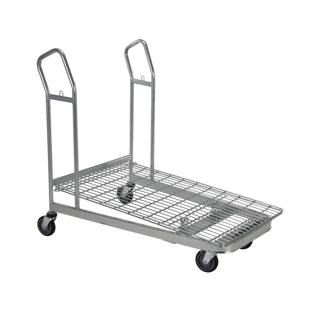 Vestil 52 in. x 28 in. x 43 in. Nestable Wire Cart-WIRE-M - The Home ...