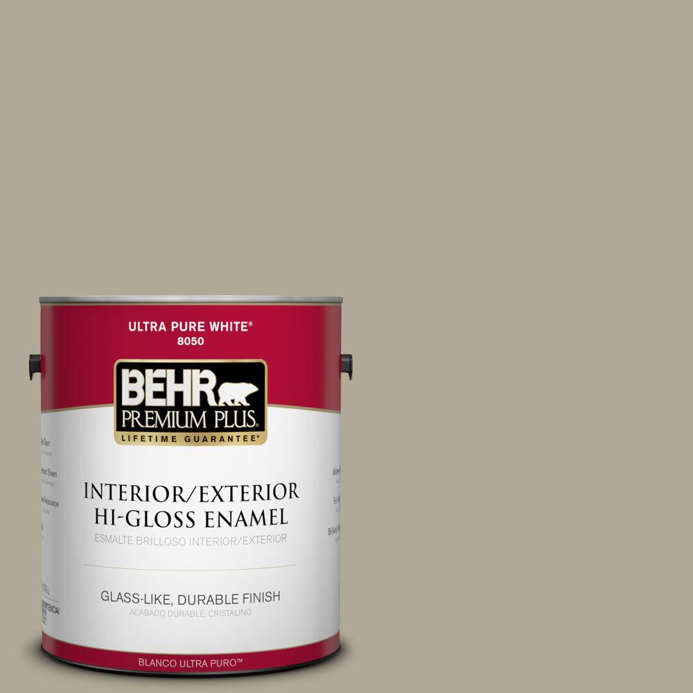BEHR Premium Plus 1-gal. #780D-5 Spartan Stone Hi-Gloss Enamel Interior/Exterior Paint