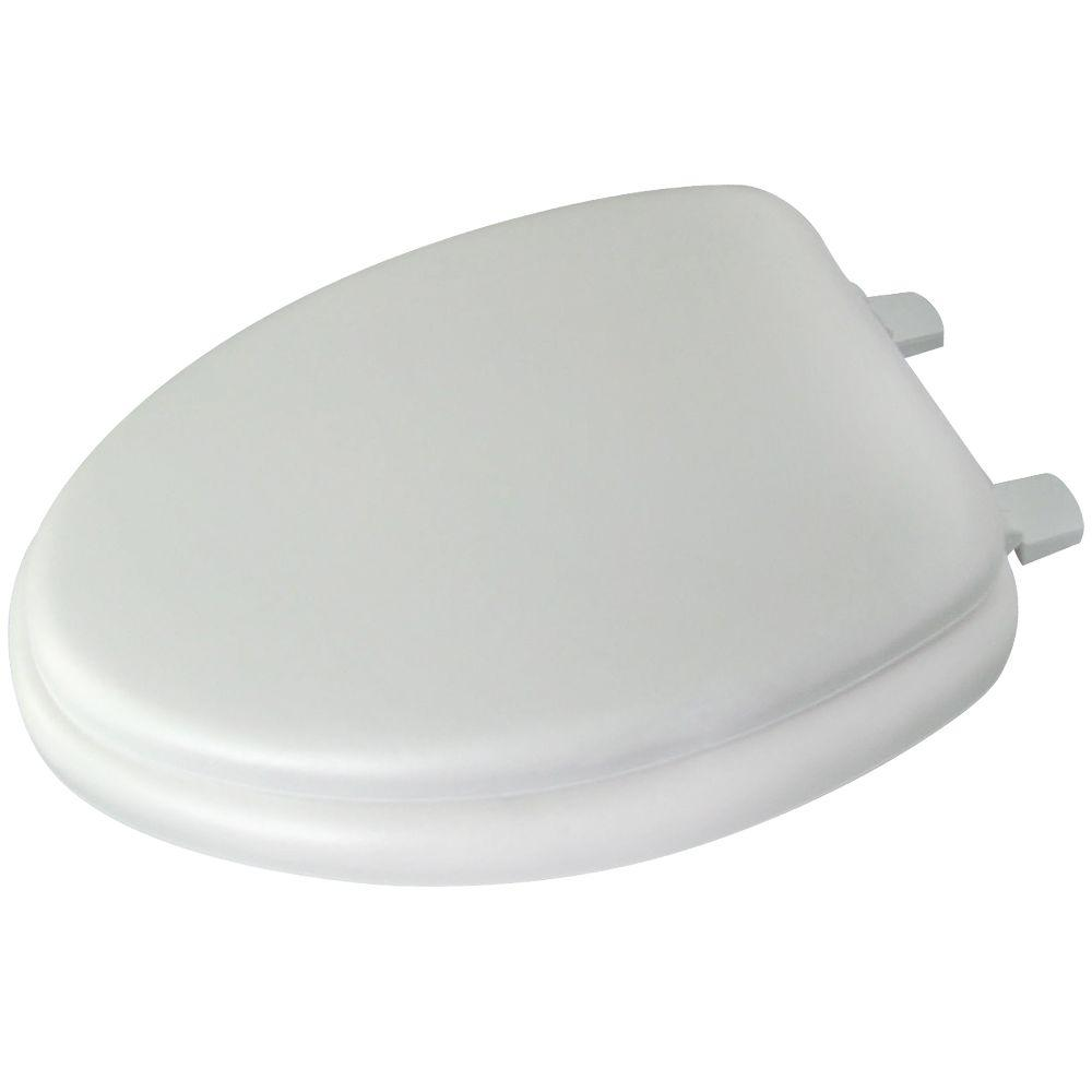 Glacier Bay Elongated Closed Front Toilet Seat In White