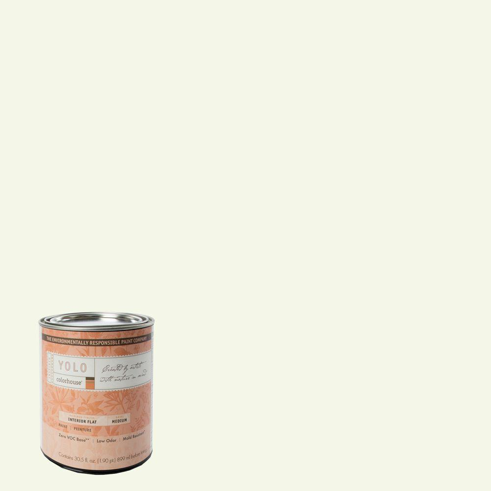 YOLO Colorhouse 1-Qt. Imagine .03 Flat Interior Paint-DISCONTINUED