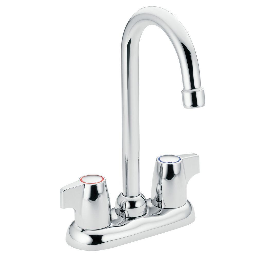 MOEN Chateau 2-Handle High-Arc Bar Faucet in Chrome