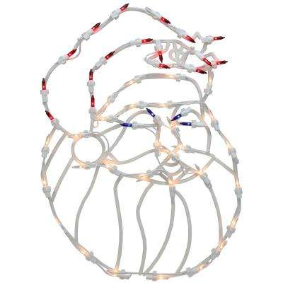 18 in. Lighted Santa Christmas Window Silhouette Decoration (4-Pack)