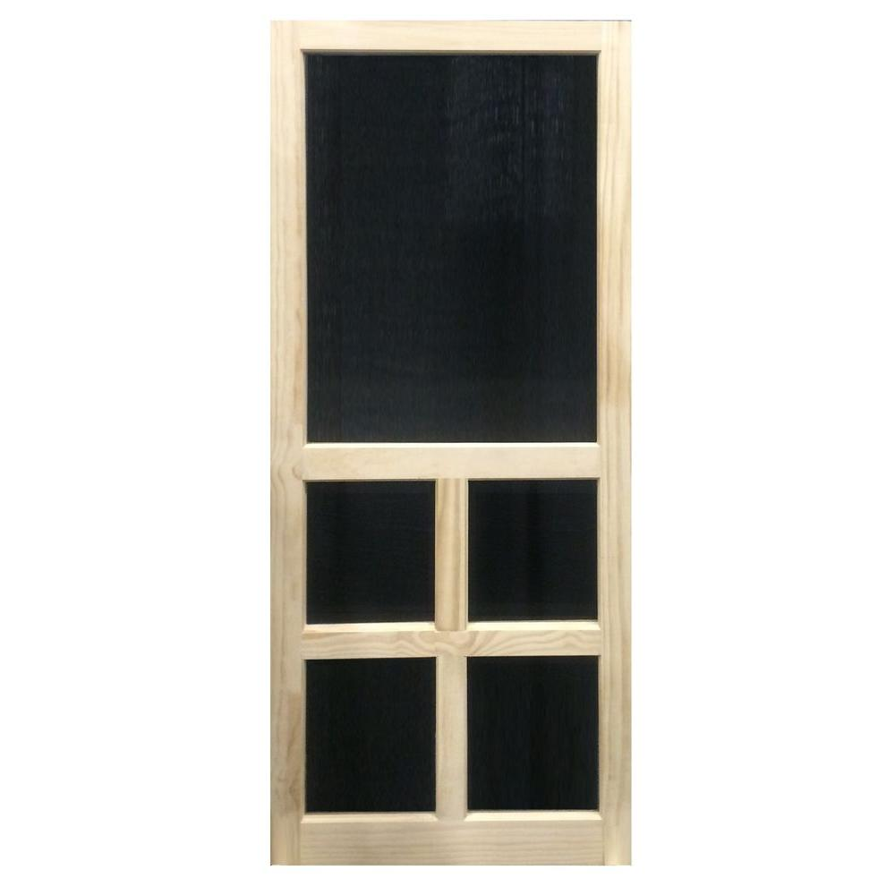 36 X 80 Pine Screen Doors Exterior Doors The Home Depot