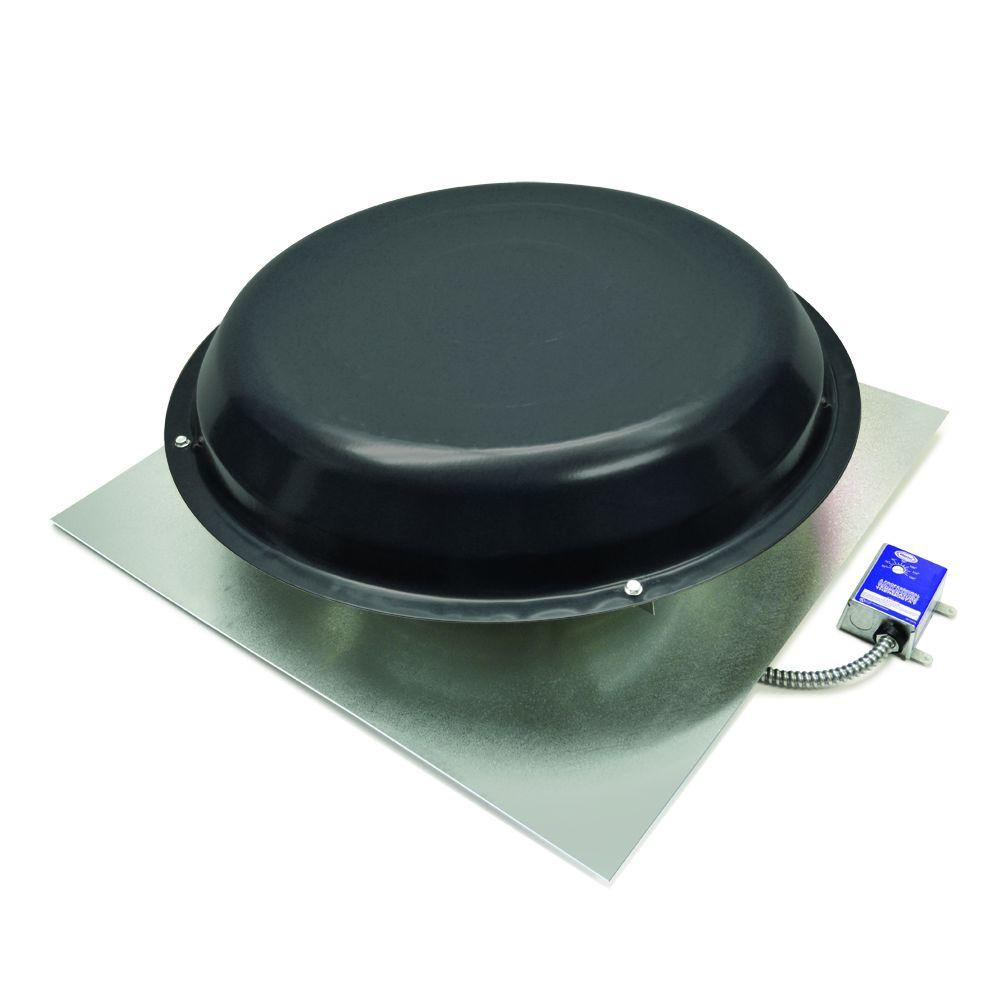 Master Flow 1250 CFM Power Roof Mount Vent in Black