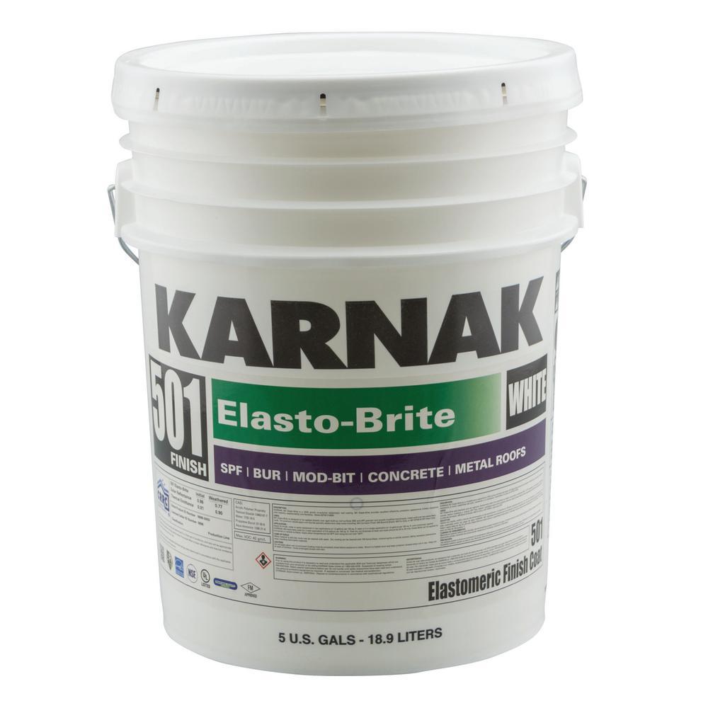 501 5-Gal. Elasto-Brite Acrylic Roof Coating