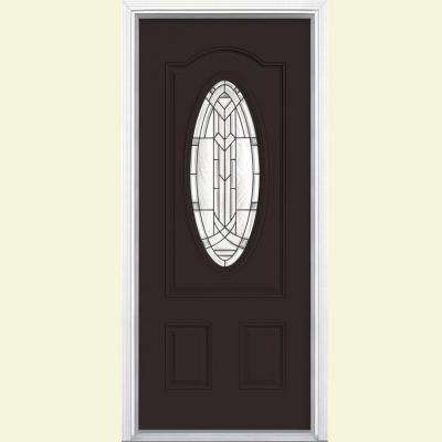 Dark Brown Vinyl Front Doors Exterior Doors The Home Depot