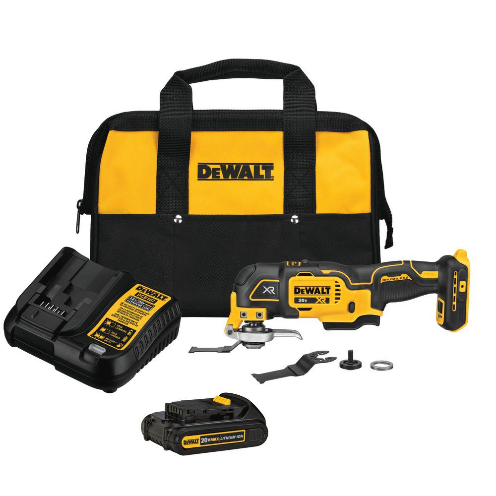 DEWALT 20-Volt MAX Lithium-Ion Cordless Oscillating Tool Kit with Battery 1.5 Ah, Charger and Bag was $179.0 now $99.0 (45.0% off)