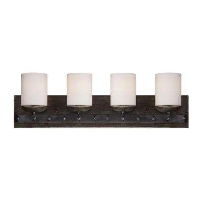 Aumbrie 4-Light Reclaimed Wood Bath Vanity Light
