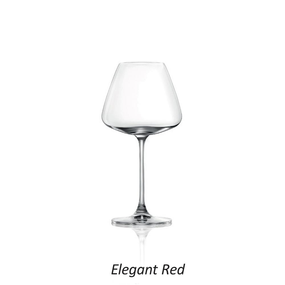 Desire Elegant Red 20 oz. Wine Glasses (8-Pieces)