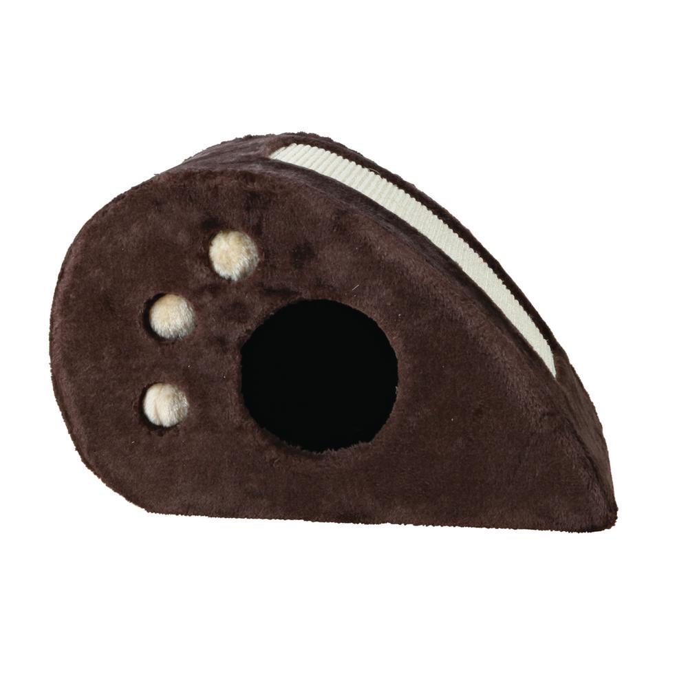 Chocolate Brown Topi Cat Condo