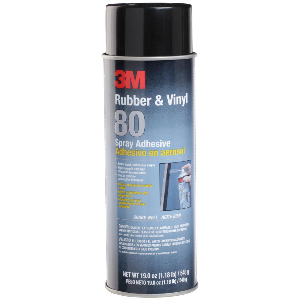 3M 19 oz  Rubber and Vinyl 80 Spray Adhesive