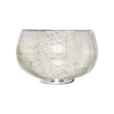 Scarlette 17 in. Decorative Bowl in Antique Silver