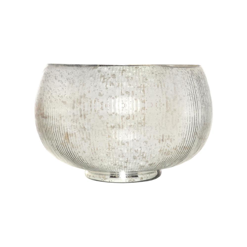 Scarlette 17 in. Decorative Bowl in Antique Silver