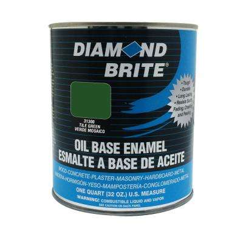 1 qt. Tile Green Oil Base Enamel Interior/Exterior Paint