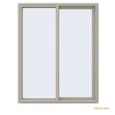 47.5 in. x 59.5 in. V-4500 Series Desert Sand Painted Vinyl Right-Handed Sliding Window with Fiberglass Mesh Screen
