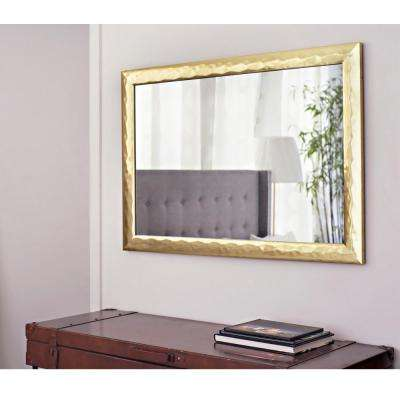 40.75 in. x 28.75 in. Gold Metallic Impressions Mirror