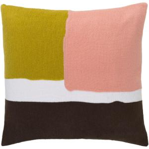 Marika Pink Graphic Polyester 22 in. x 22 in. Throw Pillow