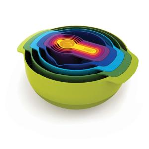 Click here to buy Joseph Joseph Nest Plus Mixing Bowl and Measuring Set (9-Piece) by Joseph Joseph.