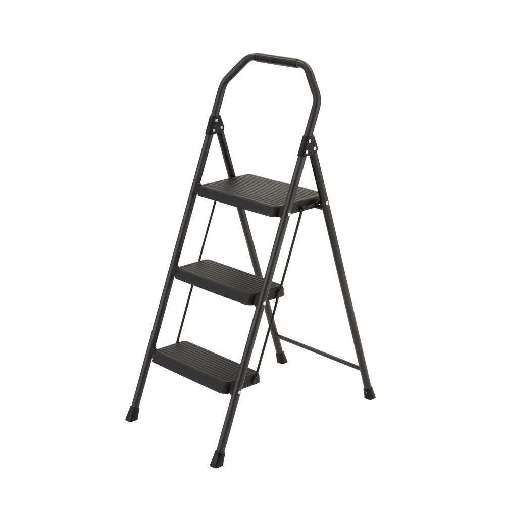 Gorilla Ladders 3 Step Compact Steel Step Stool W 225 Lb Capacity