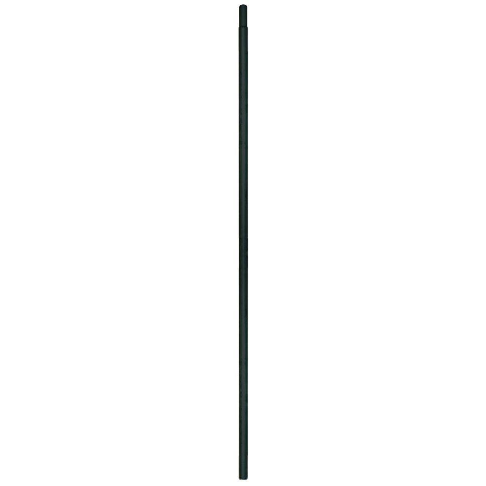 YARDGARD 11/200 in. x 1-19/50 in. x 10-1/2 ft. 17-Gauge Black Metal Fence Post Top Rail
