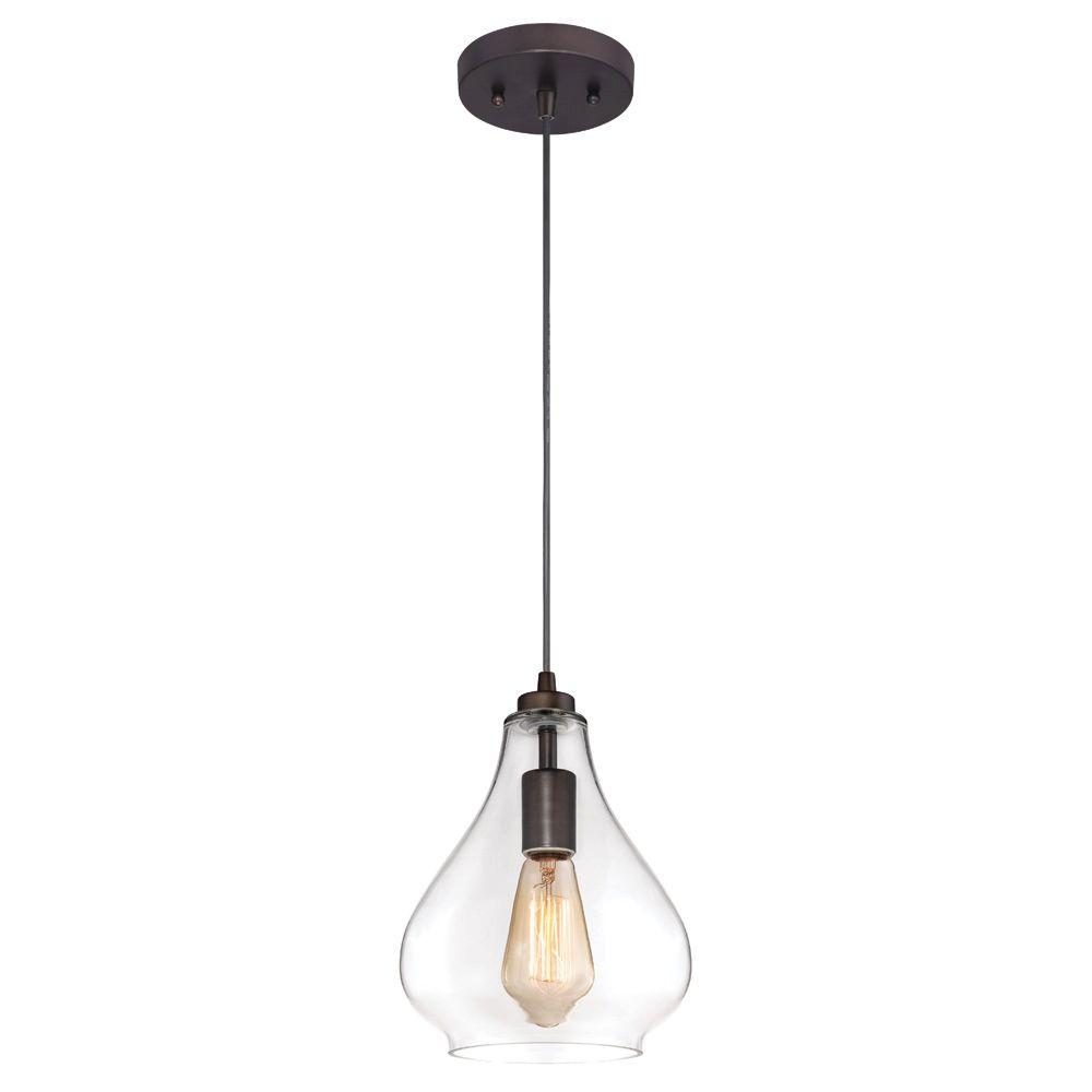 home depot pendant lighting. westinghouse 1light oil rubbed bronze adjustable mini pendant with handblown clear glass6102600 the home depot lighting s