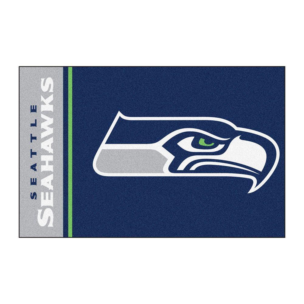 NFL - Seattle Seahawks Blue Uniform Inspired 2 ft. x 3 ft. Area Rug