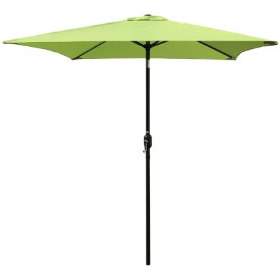 6.5 ft. Steel Crank and Tilt Square Market Patio Umbrella in Lime Green