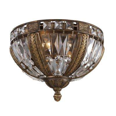 Millwood 4-Light Antique Bronze Ceiling Flushmount