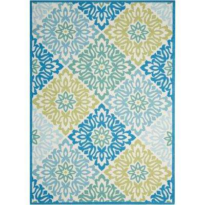 Sweet Things Marine 5 ft. x 7 ft. Indoor/Outdoor Area Rug