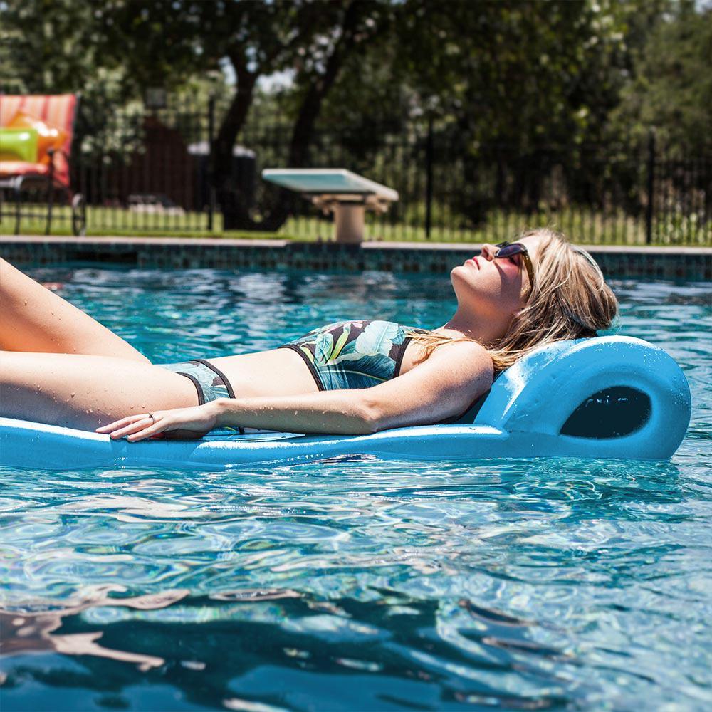 Teal Pool Mate 3X-Large Foam Mattress Swimming Pool Float