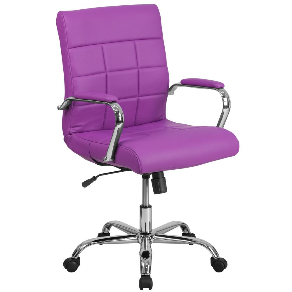 Flash Furniture Purple Office Desk Chair Go2240pur The Home Depot