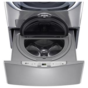 29 in. 1.0 cu. ft. SideKick Pedestal Washer with TWINWash System Compatibility in Graphite Steel